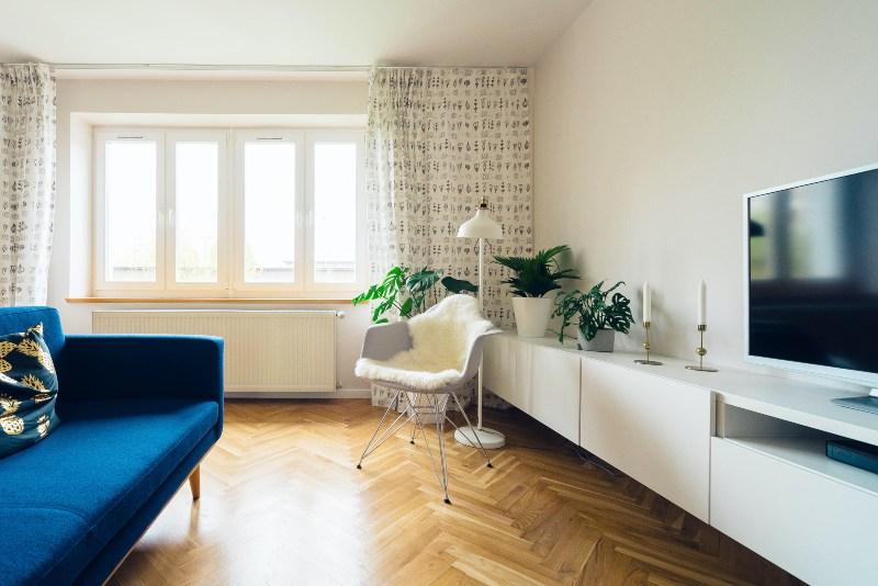 Pogled na dnevnu sobu u stanu